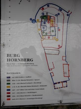 Infotafel zur Burg Hornberg
