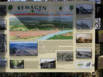 Infotafel zum Rhein und dem Umland bei Remagen