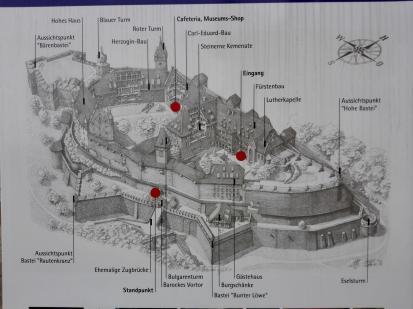 Struktur der Veste Coburg