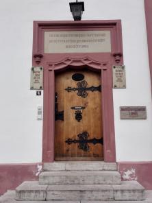 Pforte des Eisenacher Gymnasiums, an dem Luther und Johann Sebastian Bach Schüler waren