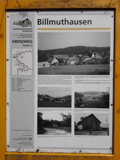 Erinnerung an das von der DDR geschleifte Dorf Billmuthausen