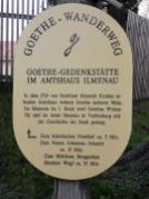 Infotafel am Goethe-Wanderweg