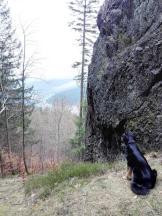 Blick hinunter beim Aufstieg zum Kickelhahn