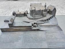 Modell des Alten Schloss Südseite