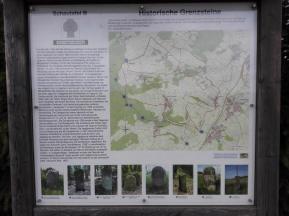 Infotafel zu den Grenzsteinen rund um Seßlach
