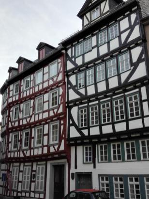 Fachwerkhäuser am Domplatz