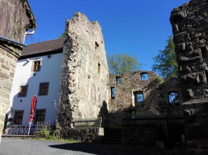 Gaststätte im Burghof der Lichtenburg