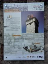 Infotafel zur Kirchenburg in Ostheim