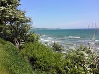 Rügen: Blick von der Steilküste am Tromper Wiek in Richtung Kap Arkona