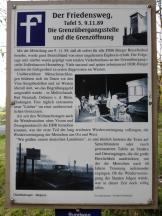 Erinnerung an die Grenzöffnung im Jahre 1990