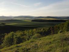 Ausblick über die Landschaft von der Schanz