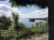 Plön: Blick vom Schloss zum Westrand des Großen Plöner Sees