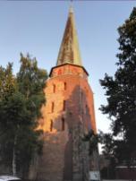 Der Kirchturm von Travemünde