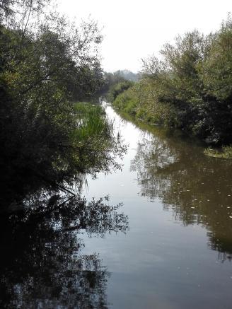 Der Altmühlfluter führt Wasser vom Altmühlsee zum Brombachsee ab