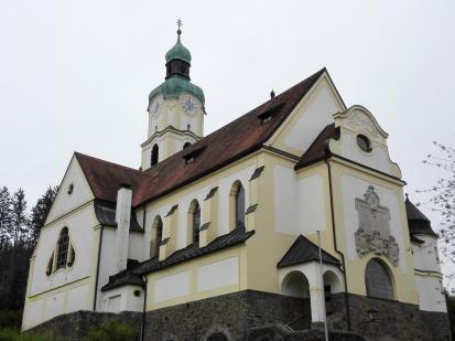 Die Pfarrkirche von Bayerisch Eisenstein