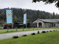 Historische Waggons am Grenzbahnhof