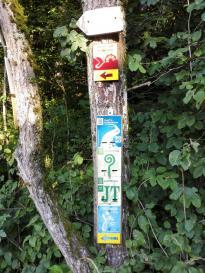 Bei Breitenbrunn kommen einige Wanderwege zusammen