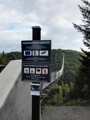 Bei Starkwind sollte man die Brücke nicht passieren
