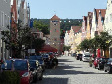 Sichtachse durch die Altstadt zum Altmühltor