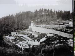 Historische Aufnahme des Steinbruchs hinter dem Lager