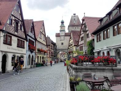 Altstadtgasse in Rothenburg ob der Tauber