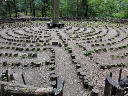 Labyrinth auf den Waldlehrpfad von Heilbronn