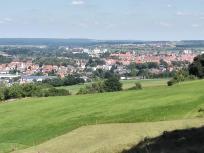Blick hinunter auf Weißenburg