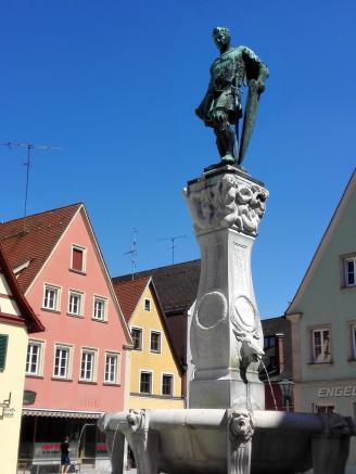 Kaiser-Ludwig-Brunnen am Marktplatz