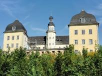 Schloss Coswig von der Elbseite aus gesehen