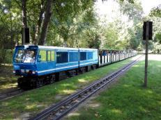 Die Parkbahn ist mit unterschiedlichen Loks unterwegs
