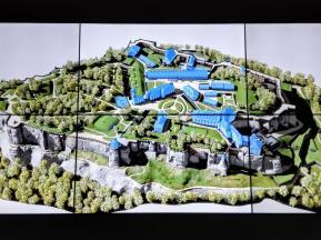 Multimediale Darstellung der Anlage im Besucherzentrum