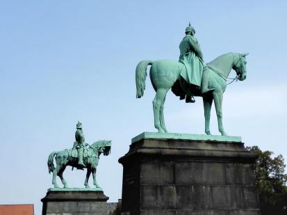 Kaiser Wilhelm II und Kaiser Barbarossa