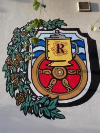 Wappen an einer Weinschänke