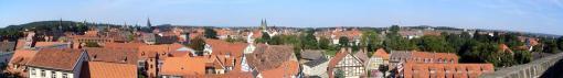Panorama von Quedlinburg, gesehen vom Schlossberg (Foto: Thomas Wozniak | http://commons.wikimedia.org | Lizenz: CC BY-SA 3.0 DE)