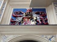Wappen am Aufgang zum Schloss