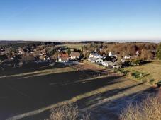 Blick vom Aussichtsturm Richtung Norden auf Wolfgarten