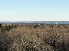 Blick vom Aussichtsturm Richtung Süden - am Horizont ist die Hohe Acht in ca. 50 Km Entfernung zu erkennen
