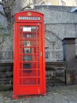 Telefonzelle unterhalb der Genovevaburg