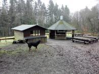 Eine erste Schutzhütte noch auf deutschem Gebiet