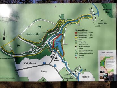 Lageplan von Kaster