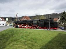 Ist mehr als 1,5 Millionen Kilometer gelaufen, hat den zweiten Weltkrieg überstanden und ist schließlich in Altenbeken gelandet: Die Dampflok 044-389-5 der ehemaligen Deutschen Reichsbahn/Bundesbahn