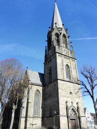 Die neugotische Stadtkirche St. Pankratius
