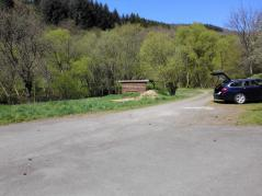 Unser Startpunkt: Der Wanderparkplatz am Ortsrand von Adenau