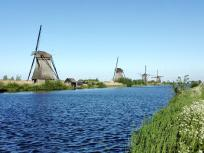 Bei den Windmühlen am Kinderdijk
