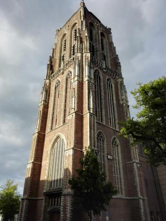 Die Grote Kerk von Gorinchem Südfassade ...