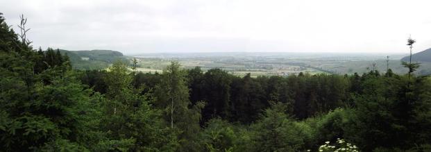 Panoramablick in die Hohenloher Ebene