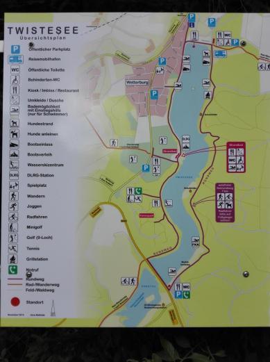 Übersichtskarte des Sees