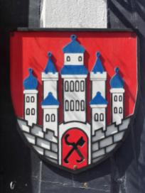 Stadtwappen an einem Haus