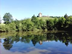 Burg Waldeck oberhalb der Weinberge