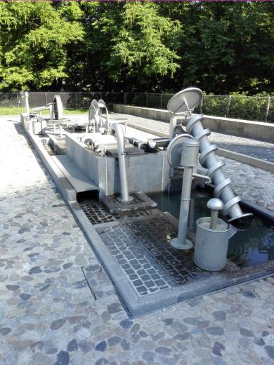 Wasserspiele am Entdecker-Museum